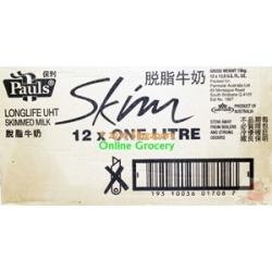 Pauls Skim Milk No Fat 1 Ctn
