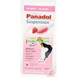 Panadol Suspension Strawberry Flavour 60ml